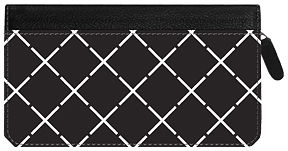 Soho Big Blocks Zippered Leather Cover