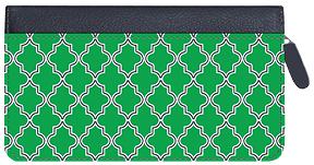 Soho Bright Quatrefoil Zippered Leather Cover