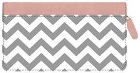 Soho Chic Chevron Zippered Leather Cover