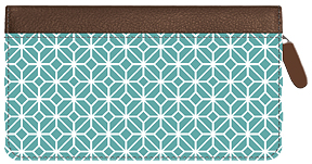 Soho Delicate Diamonds Zippered Leather Cover