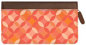 Soho Geo Petals Zippered Leather Cover