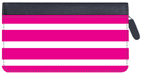 Soho Hot Pink Stripes Zippered Leather Cover