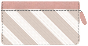Soho Soft Stripes Zippered Leather Cover