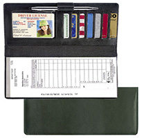 Leather Deposit Ticket Cover (Black)