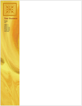Gold Abstract Letterhead