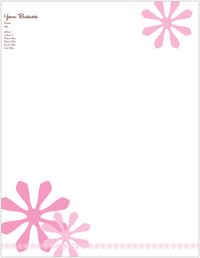 Flower Power Letterhead