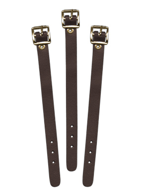 Brown Leather Luggage Strap