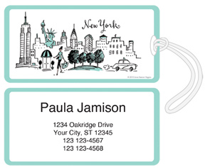 Non Stop in New York Luggage Tags