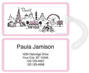 Pedaling Through Paris Luggage Tags