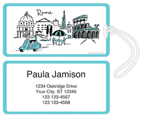 Roaming in Rome Luggage Tags
