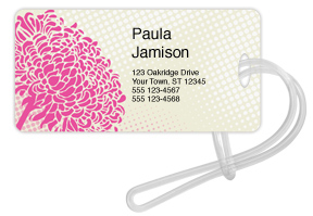 Botanical Pink Luggage Tag
