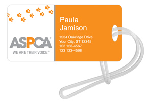 ASPCA � Paw Print Luggage Tag