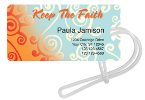 Keep the Faith Luggage Tag