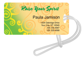 Raise Your Spirit Luggage Tag