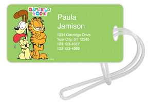 Garfield and Odie Luggage Tags