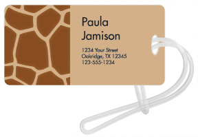 Giraffe Luggage Tags