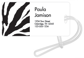 Zebra Luggage Tags
