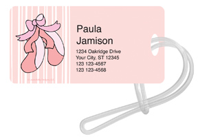 Ballet Stripes Luggage Tags