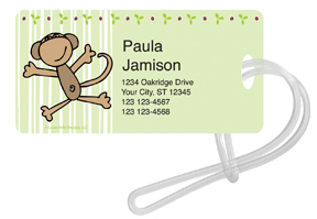 Monkey Stripes Luggage Tags