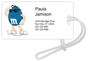 Blue M&M'S Luggage Tags