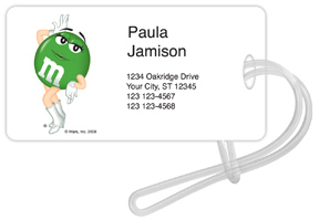 Green M&M'S Luggage Tags