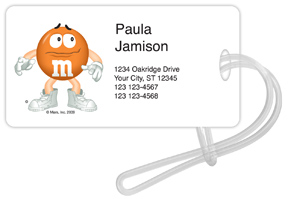 Orange M&M'S Luggage Tags