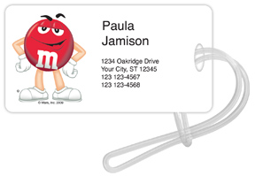 Red M&M'S Luggage Tags