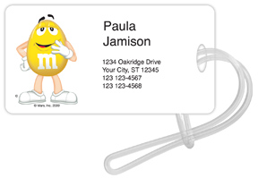 Yellow M&M'S Luggage Tags