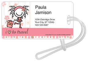 Smirk Love to Travel Luggage Tags