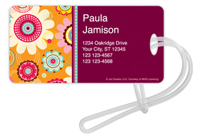 Pop Floral Luggage Tags
