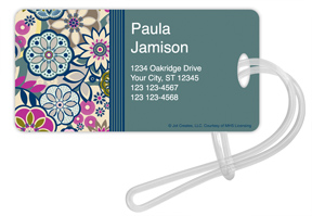 Fancy Floral Luggage Tags