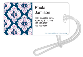 Preppy Sweet Damask Luggage Tags