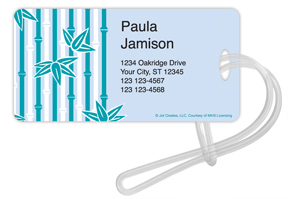 Underwater Bamboo Luggage Tags