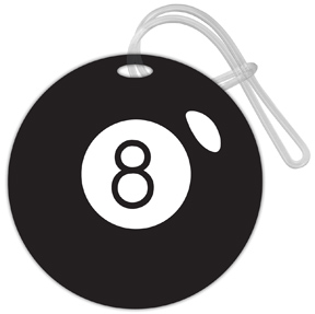 8 Ball Luggage Tag