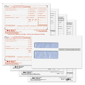 BUNDLE - W-2 Laser Set 4-Part w/ Env. (Quicken & Quickbooks Compatible)