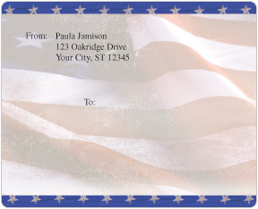 Old Glory Mailing Labels