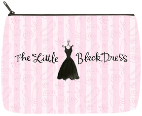 Little Black Dress Large Makeup Bag
