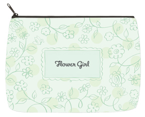 Floral Green Bridal Bag - Large
