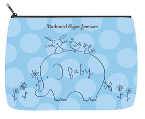 Boy Elephant & Friends Baby Bag - Large