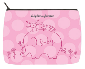 Girl Elephant & Friends Baby Bag - Large