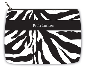 Zebra Large Makeup Bag