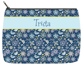 Night Water Flowers Designer Bag - Large
