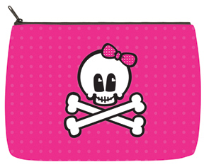 Skulls Large Makeup Bag
