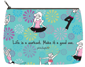 Yoga Workout Cosmetic Bag - Large