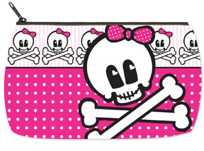 Skulls Small Makeup Bag
