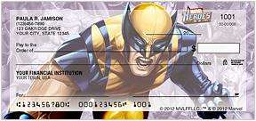 Marvel Heroes Personal Checks - 8 superheroes
