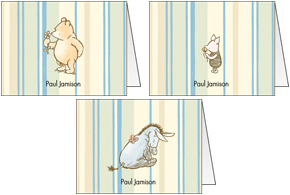 Stripes Winnie the Pooh Folded Notes Set