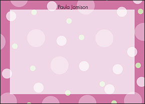 Pink Dots Flat Cards
