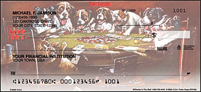 Poker Dogs Personal Checks - 4 images