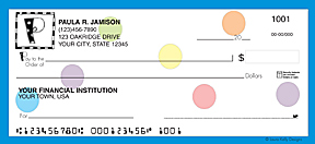 Polka Dotted Monogram Personal Checks - 3 colors